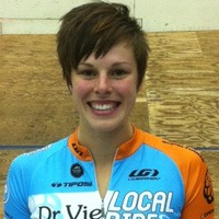 Gillian Carleton Dr. Vie cyclist wins track cycling