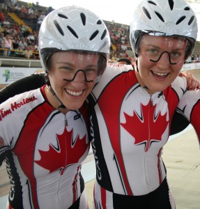 Dr Vie London Olympics 2012 Track Cycling Canadian Women Laura Brown Steph Roorda