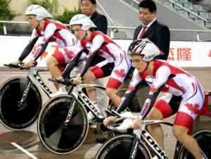Dr Vie Team Pursuit Beijing Jan 2011 Track Silver medal win