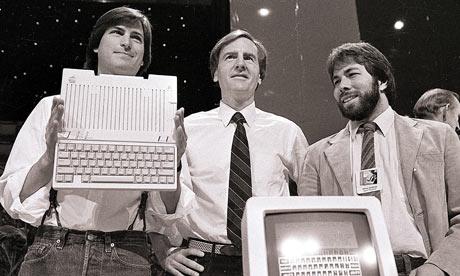 Steve-Jobs-John-Sculley-1984 unveil apple computer
