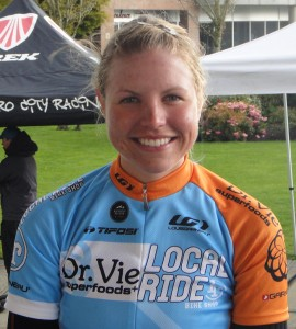 Sarah Coney Dr. Vie cyclist 2012 Canadian womens team