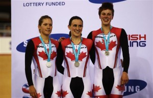 Dr. Vie Canadian athletes Jasmine Glaesser Tara Whitten Gillian Carelton silver medal London World Cup track team pursuit February 2012