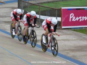 Dr. Vie Pan Am gold team pursuit 2012 Laura Brown Steph Roorda