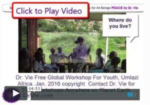 Dr. Vie free youth workshop Umlazi, Africa