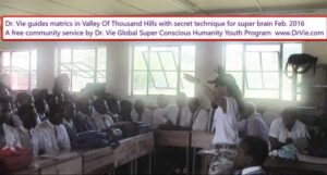Dr. Vie guides grade 12 students in Valley Of Thousand Hills with secret technique for super brain Feb. 2016