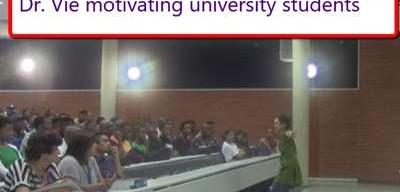 Dr. Vie free talk motivates university students