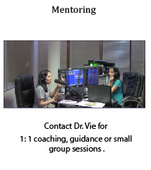Dr. Vie one on one mentoring and coaching