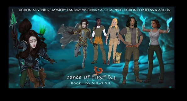 Dance Of Fireflies characters action adventure mystery apocalyptic fiction series