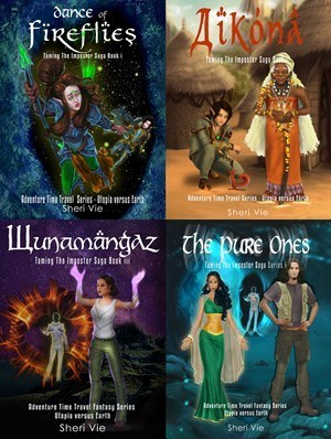 Time travel fantasy adventure series in Africa