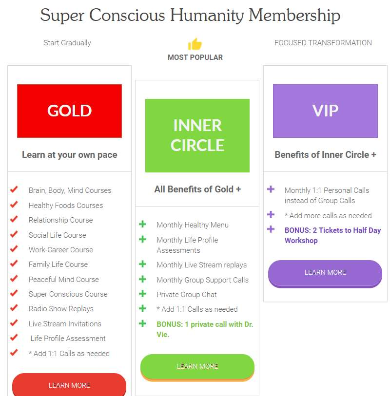 Super Conscious Humanity Membership with Dr. Vie